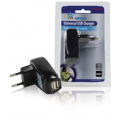Charger 110v ac double socket usb 5v ipd-power40 ipad p.sup.usb402 psseusb7 supply 220v