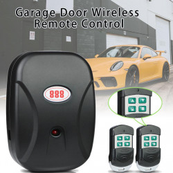 Central opening garage door shutter 220v chain with 2 remotes