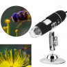 500X microscope électronique Zoom optique 8 LED USB Microscope Digital pour Science