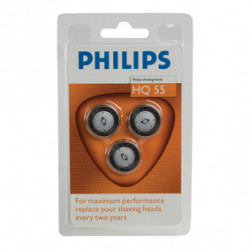 3 razor heads philips hq 55 3 405 6415 6423 6424 6445 6605 6610 6831 6842 6843 6844 6849