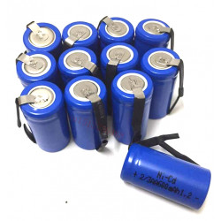 12 Rechargeable Battery 2 / 3AA Ni-Cd 600mAh 1.2v Energy Class A ++ Nickel-Cadmium