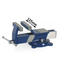 Steel bench vice 125mm with swivel base