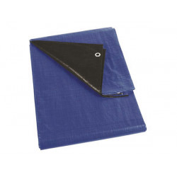 Tarpaulin blue black super strong 3 x 4m