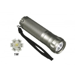 Led torch 1w aluminium housing