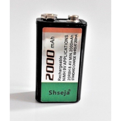 2000mAh capacity low self-discharge 9V rechargeable battery technology manufacturing in Japan security 1000mA 1200mA 1500mA
