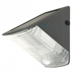 Led solar wall light with movement detector
