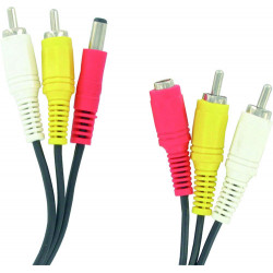 Audio-video-kabel 25m 2 cinch-stecker / stecker 2 cinch-buchse + alim alim alim kabel klinke buchse der kamera