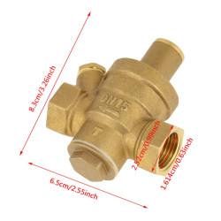 Limiting water pressure reducer 1/2 ff 15/21 dn15 manometer valve regulator valve fuel gas