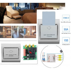 Magnetic card reader T5557 125khz electric switch room hotel 220v 30a