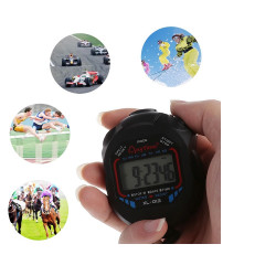 Sports Stopwatch Professional Handheld Waterproof LCD Digital Stopwatch Timer Chronograph Counter Sport Alarm