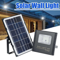 10W Waterproof IP65 Solar Light LED Flood Light Floodlight Outdoor Security Wall Lamp with Remote Controller