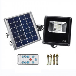 Waterproof Solar Floodlights 20W Remote Control + Timer + Lighting Control Outdoor