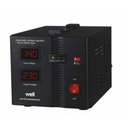 Automatic voltage stabilizer with Secure 500VA servo motor, Well AVR-SRV-SECURE500-WL