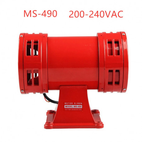 Sirene turbine electromechanical 0.6A 120w 220v 1200m ms-125dB audible alarm system 490 rotary