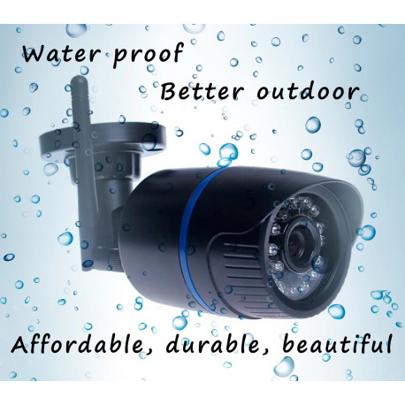 1080p 6mm waterproof ip color video camera with 220v power supply