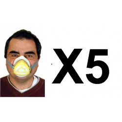5 Gas mask protection virus chinese high filtration protections np22 respirators safety masks gas