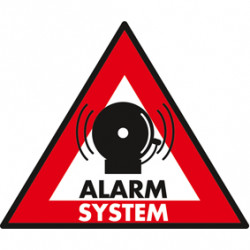 Etiquette deterrent alarm system panel sticker adhesive sticker protection system