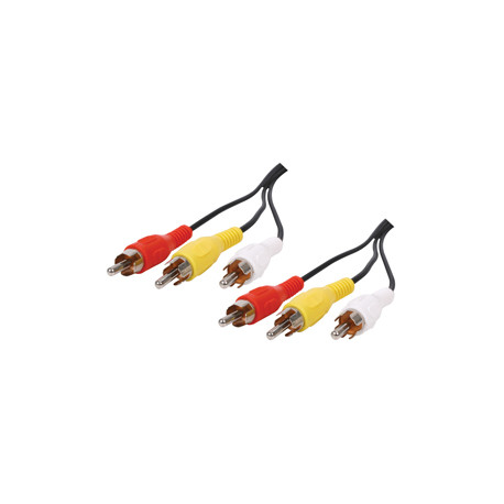 Cable rca audio video cable 3 rca male to 3 rca male cable 2 m - 521/2