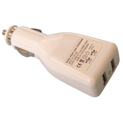Chargeur adaptateur alimentation 12v 5v usb 2x0.5a double allume cigare voiture ipod hq p.sup.usb201