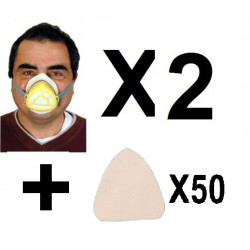 2 Gas mask protection mr + 50 filter mrc virus chinese high filtration protections np22 respirators safety masks gas
