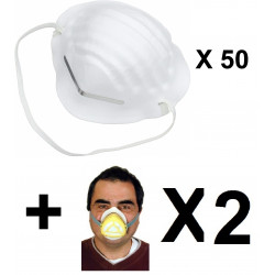 50 masks respiratory protection  chinese  anti dust silverline pandemic epidemic safety hygiene