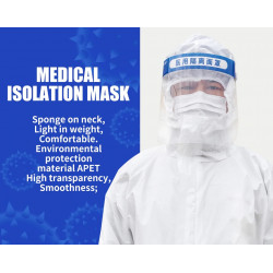 Protective Head-Mounted Isolation Mask Full Face Antivirus Mask Waterproof medical Face Shield
