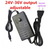 AC / DC adapter regulated switching power supply 24v 36v 2A 25v 26v 27v 28v 29v 30v 31v 32v 33v 34v 35v