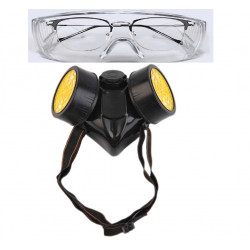 Gas mask for chemical risks nose + mouth filter gas mask covid-19 coronavirus gas safety  virus flu china