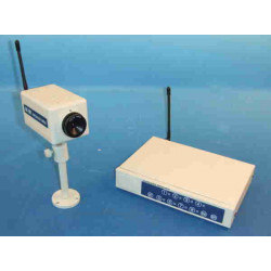 Receiver + camera audio video black white with wire receiver + camera audio video black white with wire