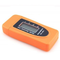 Mini 2pins lcd wood bamboo cotton moisture meter tester