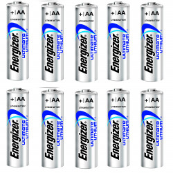 10 AA Energizer Lithiumbatterie L91 3000 mAh 1,5 V LR6 Ultimate Cute