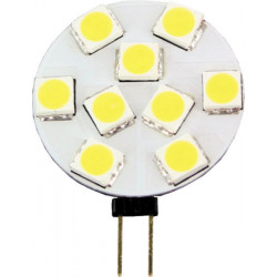 Ampoule 12v g4 9 led smd blanc chaud 31mm culot g4 lumiere lampe eclairage bulb lamp elev149g4