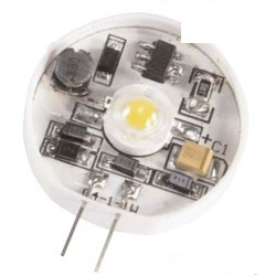 1 led lamp g4 17v 6-pin 1w warm white 25 x ø 4 mm 30 ° angle ref: elev111g4