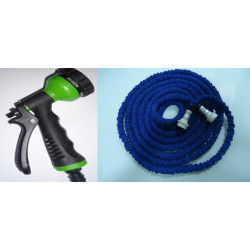 Extensible hose watering hose 25 feet  4 jets spray gun retractable retracts xhose own home garden