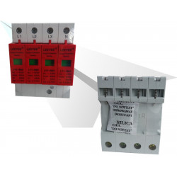 Surge pole high capacity rail din 385v/420v 4 percent surge arrester type 1 80ka