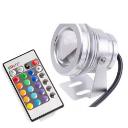 Impermeable led proyector 10w verde rojo rgb azul con remotas 750lm 12v ip67 al aire libre