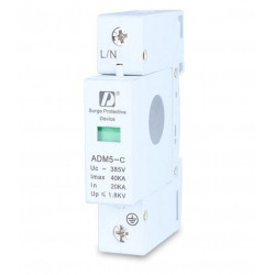 1 pz / lotto 1 P 40KA 110 V 220 V 380 V AC Din Rail SPD Anti-fulmini Dispositivo di Protezione Da Sovratensioni