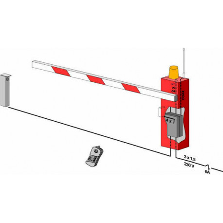 Automatic barrier gate, 6m 9s 100 cycles parking barrier gate automatic  gate system barrier gate automatic opener automati cgate - JR international  /
