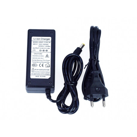 Adapter charger 11.1v 12v 12.6v 3A 3s for lithium polymer battery 5.5 x 2.1mm euro plug