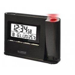 Radio alarm clock ceiling wall display Time projection guide lacrosse temperature