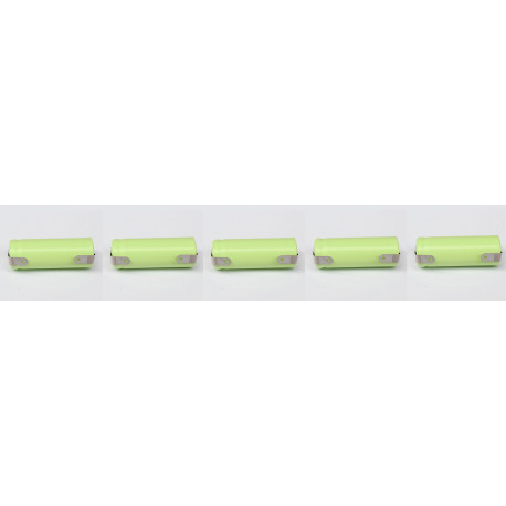 5 x 1.2V 2/3AAA rechargeable battery 400mah 2/3 AAA ni-mh nimh cell with tab pins for electric shaver razor cordless