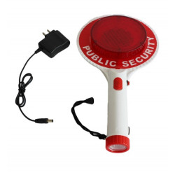Two-Way Handheld Rechargeable LED Traffic Sign Stop Light Lamp Car Indicator Warning Sign Baton Flashlight car-styling