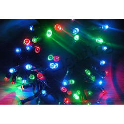 18m 100 led 6 colors solar string fairy lights warterproof party xmas garden outdoor