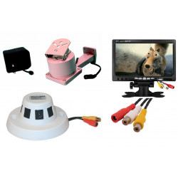 Pack video camera surveillance motorised inside and outside video surveillance