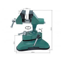 Vacuum table vice with standard head