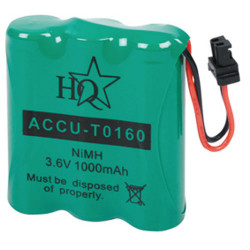 Hq accumulator for wireless phone nimh 3.6 volts 1000 mah bosch accu t0160 panasonic philips samsung