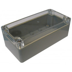 Sealed abs box with inserts 160 x 80 x 55mm and clear cover