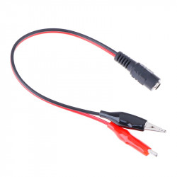 DC Female Jack Connector Alligator Clips Crocodile Wire 12V Power Cable To 2 Clip Connected Voltage 5.5*2.1mm