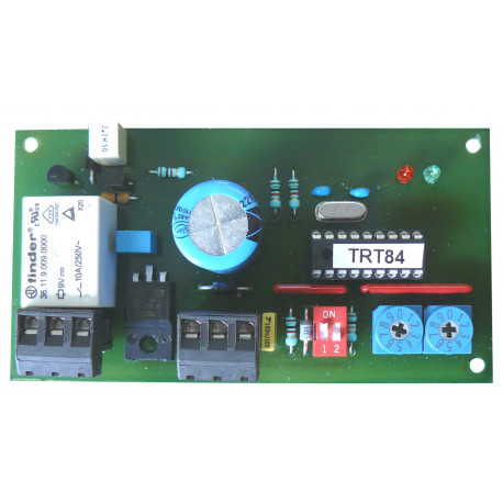 Electronic card 9 to 24vdc step relay timer timer 1 minute to 99 seconds or