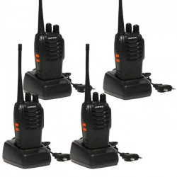 4 Baofeng BF-888S 16-Channel UHF 400-470MHz Walkie Talkie Pair 2-Way FM Radio Rechargeable Transceiver 3 Kilometer